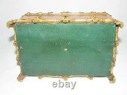 07h15 Ancien Coffret Orme Et Bronze Boite A Bijoux Style Gothique Napoleon III