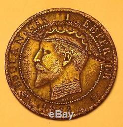 10 Centimes Satirique Napoleon III Bicorne général Boulanger. Hobo Nickel
