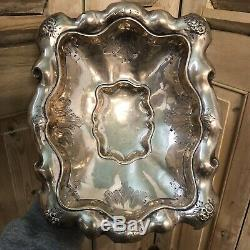 220gr Argent Massif Solid Silver Corbeille a Pain XIXeme Napoléon III Ancien
