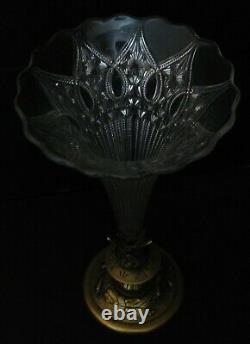 2983 vase cornet en cristal taillé et bronze 19eme siecle napoléon 3