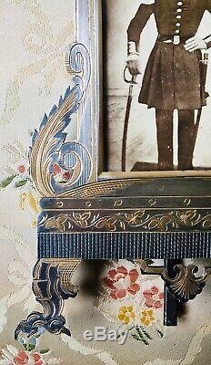 A VOIR Rare MAGNIFIQUE cadre photo bronze ciselé argenté doré NAPOLEON III XIXe