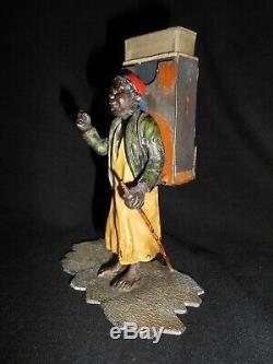 ANCIEN PLOMB DE VIENNE BRONZE PYROGÈNE BOITE ALLUMETTES MATCH BOX art populaire