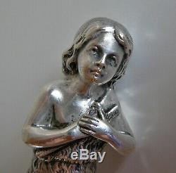 ANCIEN Sceau Cachet LFG Bronze argenté St JEAN JOHN Silvered Bronze Seal ANTIQUE