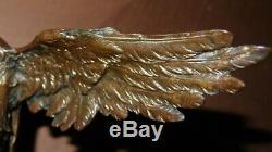 Aigle en Bronze sur socle en marbre XIXème