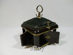 Ancien Coffret Necessaire A Couture A Systeme Napoleon III Porte Bobine Aiguille