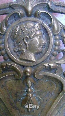 Ancien Grand Médaillon Bronze Ajouré Thème Légion D'honneur 1849/70 N1339