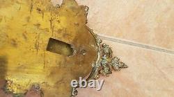 Ancien et important cartel dapplique napoleon 3 en bronze