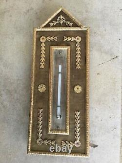 Ancien thermomètre au Mercure Cadre bronze XIXeme Napoléon III