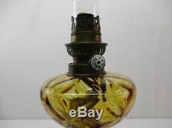 Ancienne Lampe A Petrole En Bronze Et Marbre Old Oil Lamp