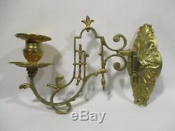 Ancienne Lampe A Petrole Murale Applique En Bronze Petrol Lamp Benzinlampe