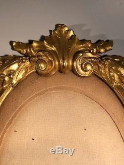 Ancienne Paires De Cadres En Bronze Dorées Epoque Napoléon III