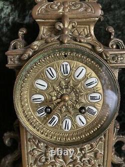 Ancienne Pendule Bronze Pied Griffe XIX Napoleon III