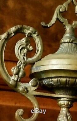 Ancienne Pendule En Bronze Tête de lion Napoléon III