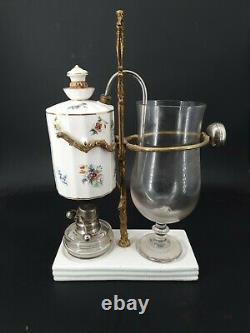 Ancienne cafetière Gadet en porcelaine et bronze Napoléon III