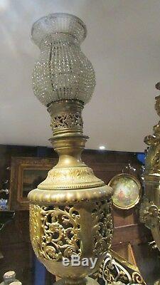 Ancienne grande paire appliques napoleon III bronze femme ailee sphinge opera