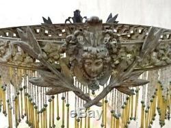 Ancienne monture lustre bronze Napoléon III