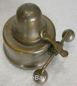 Ancienne rare CAFETIERE A SIPHON à balancier XIXème porcelaine blanche bronze