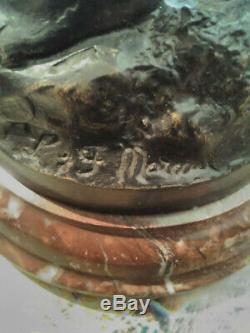 Ange Ancien En Bronze Signe Moreau 31 CM