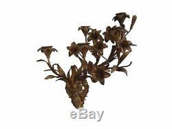 Applique Napoléon III aux fleurs bronze doré