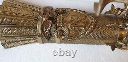 Applique en bronze à trois bras de lumière cygnes style empire Napoléon III n806