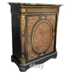 Bahut Napoléon III marqueterie Boulle & registre de bronze doré XIXème