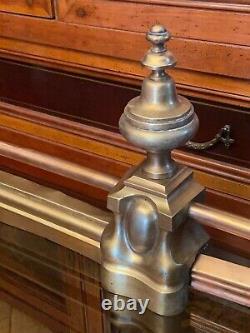 Barre de cheminée en bronze milieu XIXe époque Louis-Philippe Napoléon III