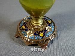 Beau Chandelier Bougeoir, Bronze, Emaux Cloisonnés ciselés, XIXe dlg Barbedienne