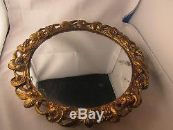 Bel ancien surtout de table bronze doré napoleon III 19e rond glace mercure