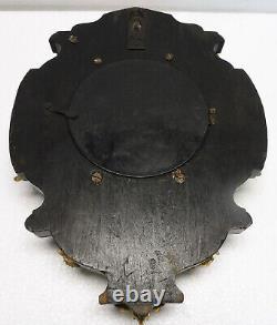 Belle PENDULE BOULANGERE bronze bois noirci XIXème horloge cuisine Napoléon III