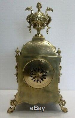 Belle et Ancienne PENDULE en Bronze XIXe Napoléon III Fonctionne