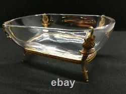 Bijoux. Baguier. Coupe en bronze doré et cristal Second Empire