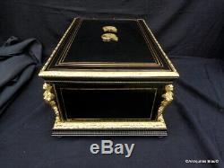 Boite Coffret à Bijoux en Bronze marqueterie Boulle Epoque Napoléon III