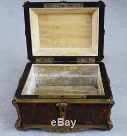 Boite à Gants bronze doré Tahan époque Napoléon III marqueterie Boulle
