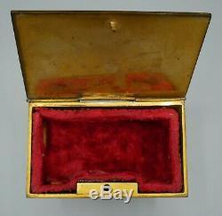Boîte à bijoux en émail cloisonné, bronze émaillé, Napoléon III, XIXème