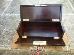 Boite à gants coffret ancien bois marqueterie Boulle bronze Napoléon III XIXème