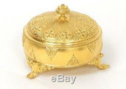 Boîte coffret bronze doré F. Barbedienne fleurs palmettes Napoléon III XIXè