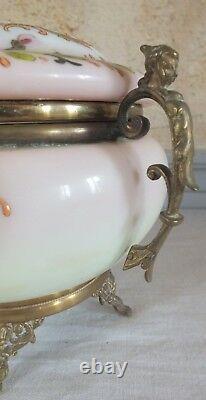 Boite opaline émaillée bronze époque 19ème