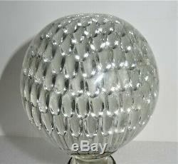 Boule Escalier En Cristal Modèle Nid d'Abeilles Monture bronze 19ème