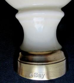 Boule d'escalier Art Nouveau en porcelaine beige, base en bronze doré