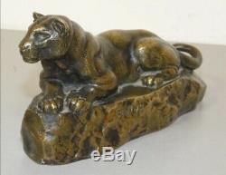Bronze La Panthère De Tunis, Barye