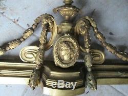 Bronze doré. Elément décoratif XIXème. Devant de cheminée 105x27cm. 7kg