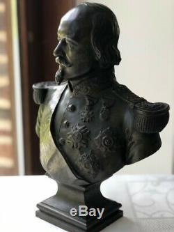 Buste bronze XIXe Napoléon III Alfred Daubrée (1817-1885) (statue signée)