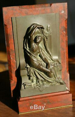 CHAPU Henri & Thiebaut fondeur La pensee Bronze signe 19