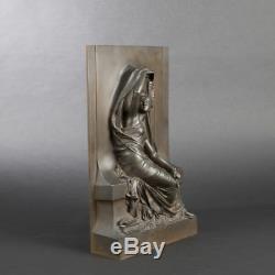 CHAPU Henri & Thiebaut fondeur La pensee Grand bronze signe