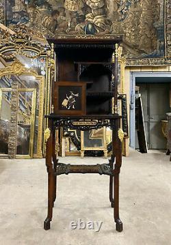 Cabinet Japonisant Par Gabriel Viardot D'époque Napoléon III