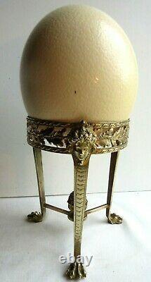 Cabinet de curiosité Oeuf d'autruche support bronze femmes antiques Napoléon III