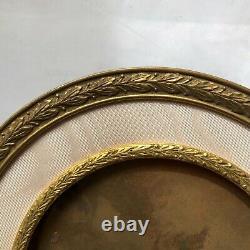 Cadre Photo En Metal Dore Et Bronze 19 Eme Siecle 1