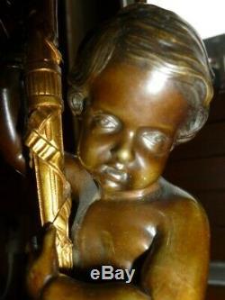 Candelabre ancien en bronze putti chandelier napoleon 3 sculpture ange III