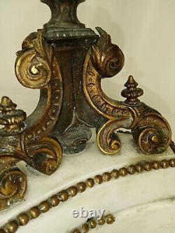 Candélabres Napoléon III en bronze patiné et doré