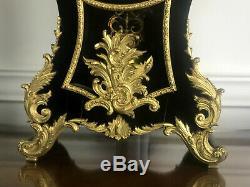 Cartel Napoleon III De Style L XV A Decor De Putti En Bois Noirci Orné De Bronze